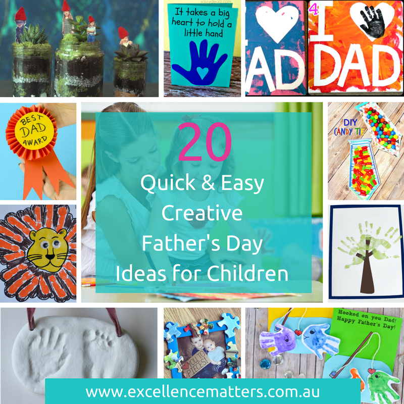 Excellence Matters Early Childhood Professional Development Workshops Resources Consulting Melbourne Fathers Day Crafts Arts Activities for Children