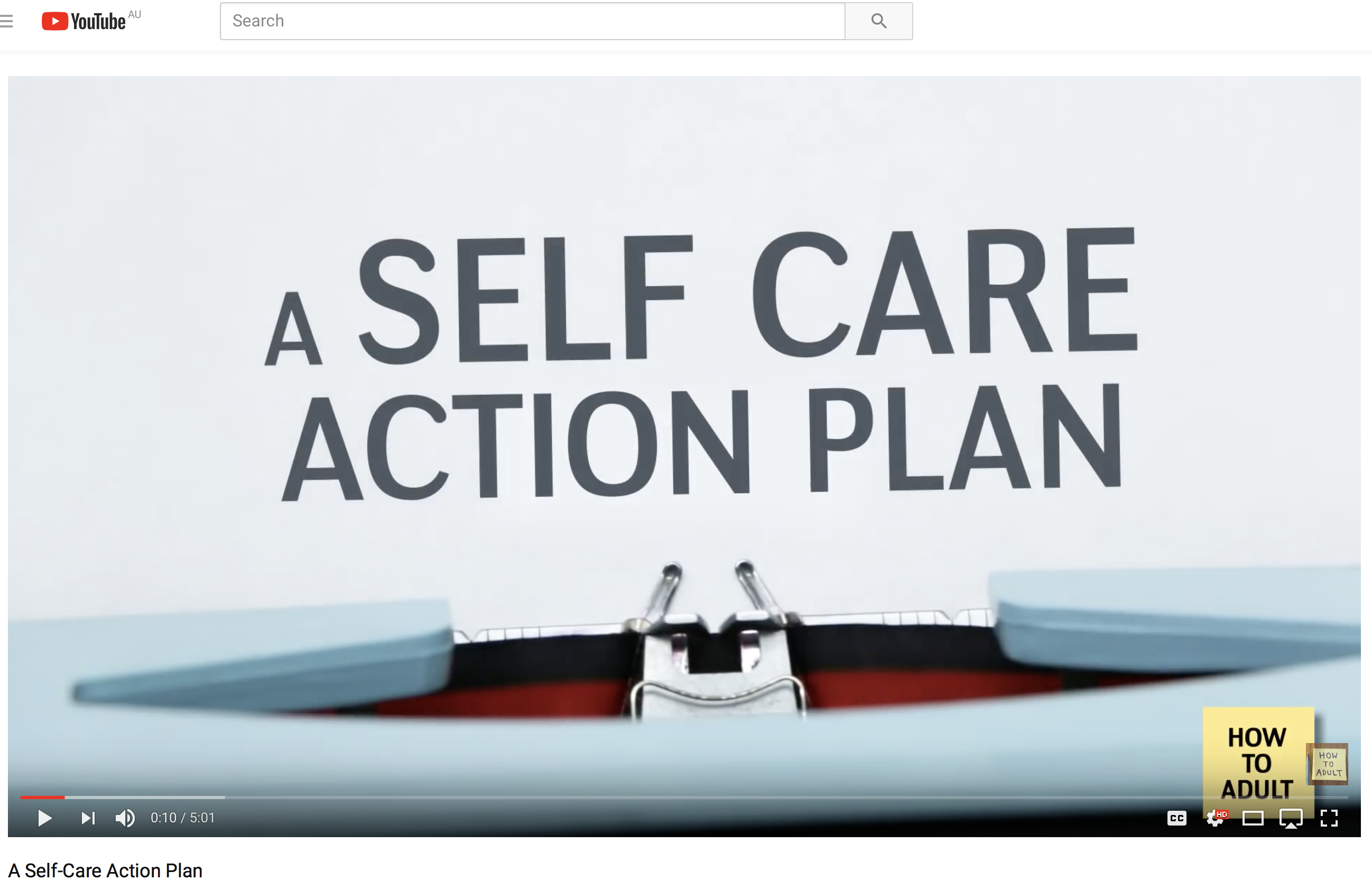 Early Childhood Professionals Self Care Action Plan